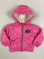 Демісезонна Куртка дитяча для дівчинки на флісі з капюшоном під гумку Friends 2-6 років, рожевого кольору