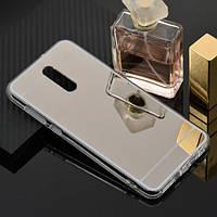 Чехол Fiji Mirror для Xiaomi Redmi 8A силикон зеркальный бампер металлик