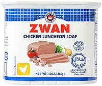 Консервированная куриная колбаса-ланчмит Zwan (chicken luncheon meat), 340 грамм