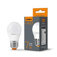 LED лампа VIDEX G45e 7W 4100K E27 220V кулька, 24961
