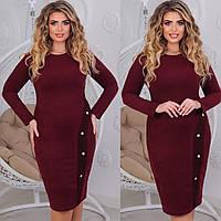 Стильне жіноче вбрання замшеве сукня з довгим рукавом, фото 1