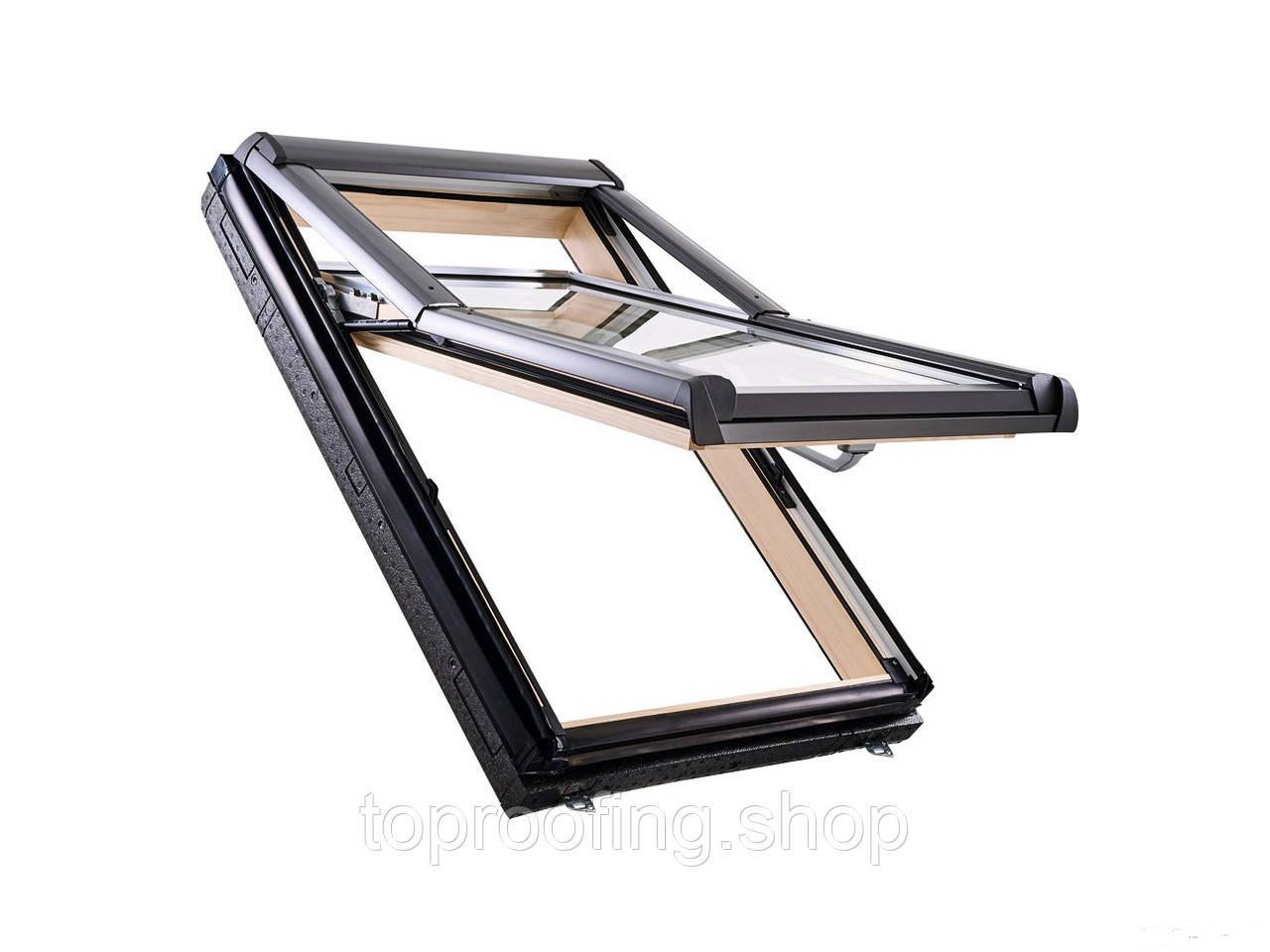 """Мансардное окно деревянное """"ROTO DESIGNO"""" (WDF R75 Н WD) 54/78"""