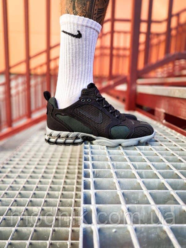 Мужские кроссовки Nike x Stüssy Air Zoom Spiridon Cage 2 (черный) кроссы модные в сеточку К7710