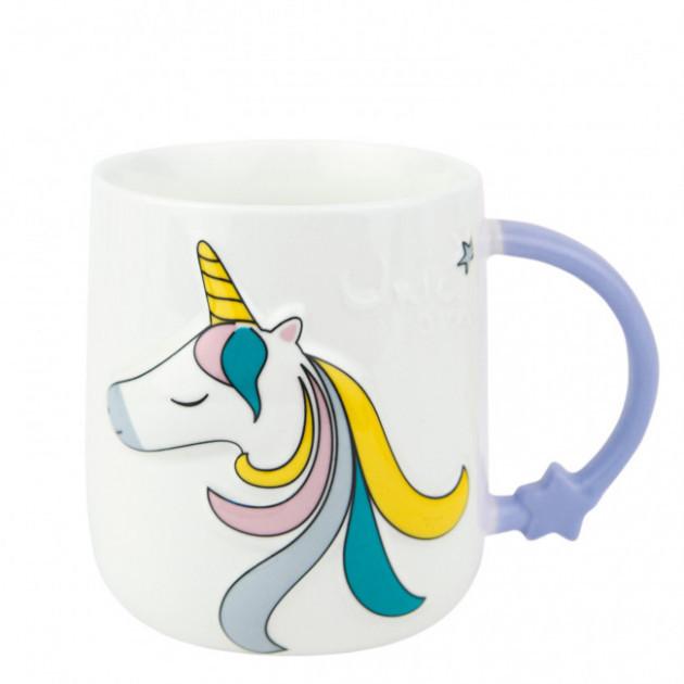 Чашка керамічна EL-1115 Єдиноріг і зірка 420 мл