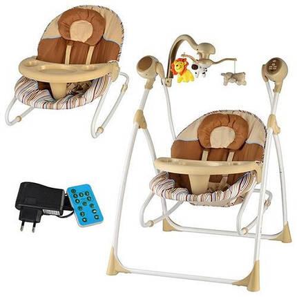 Детское кресло-качели Bambi M 1540-3-2 на р/у, фото 2