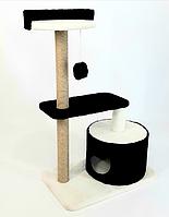 Игровой комплекс ТМ Dom KO домик дряпка  для кошек когтеточка, высота 94 см.