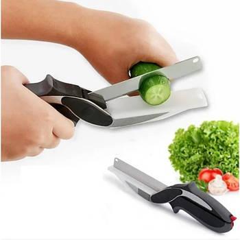 Умный кухонный нож и кухонные ножницы 2в1 1296