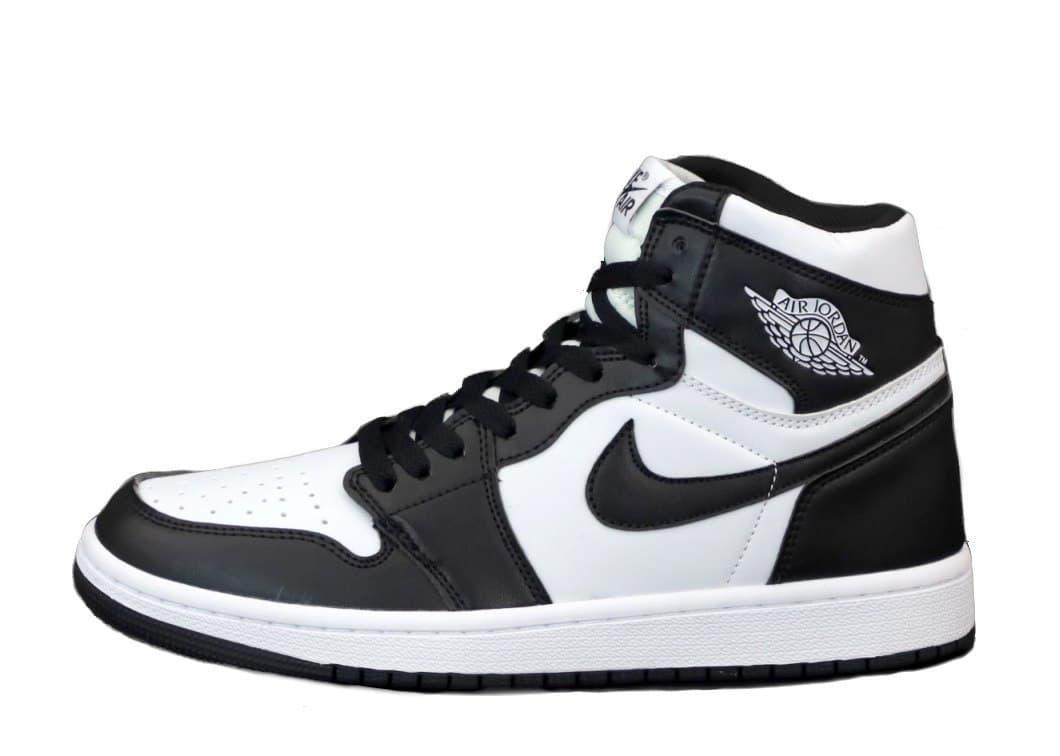Мужские кроссовки Nike Air Jordan 1 Retro (бело-черные) К12295 повседневные стильные кроссы