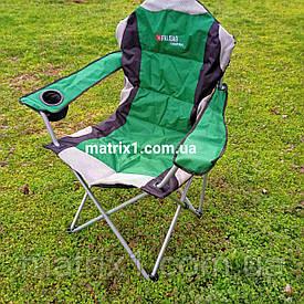 Крісло доладне з підлокітниками і підсклянником, 60 х 60 х 110/92 см, Camping. PALISAD