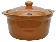 Термостойкая керамическая кастрюля Sacher 3,2 л коричневая