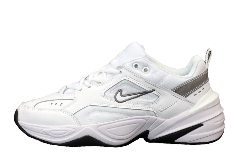Мужские кроссовки Nike M2 Tekno (белые с серым) модная повседневная обувь из кожи К12145