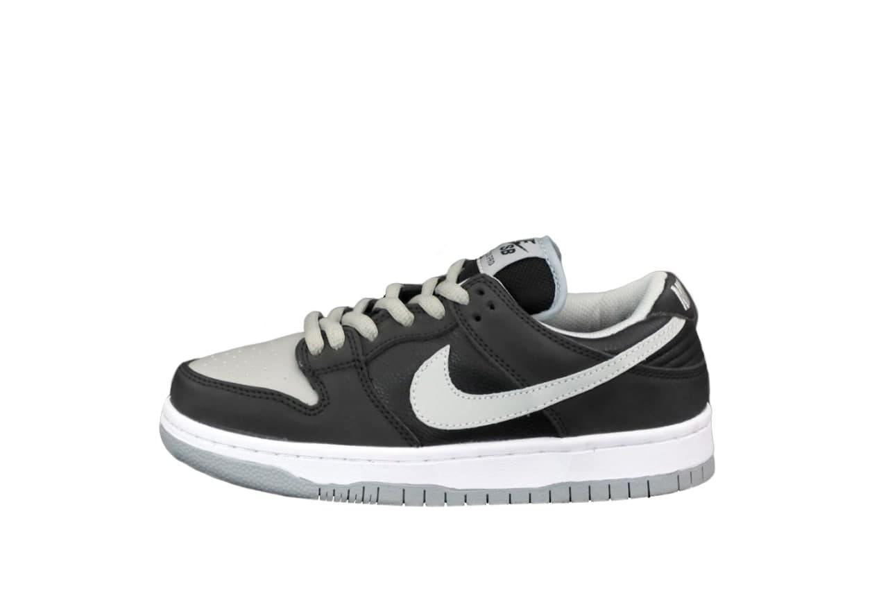 Мужские кроссовки Nike SB Dunk Low (черные с серым) К12538 стильные молодежный кроссы