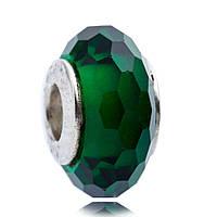 """Pandora Подвеска-Шарм """"Зеленое Ограненное Стекло"""""""