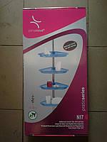 Полка угловая в ванную комнату телескопическая белая, PrimaNova, N17