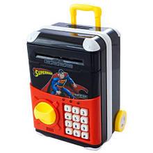 Электронная копилка Сейф банкомат Супермен 510-3