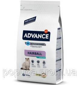 Advance Cat Sterilized Hairball для виведення шерсті в стерилізованих кішок з індичкою, 10 кг