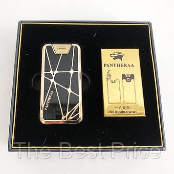 Електроімпульсна USB запальничка Pantheraa XT-4868 в подарунковій упаковці