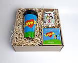 """Подарунок дівчині """"Лав із"""": стакан для кави з кришкою """"Лав із"""", шкарпетки жіночі в банці, печиво з побажаннями, фото 10"""