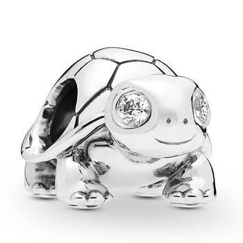 """Срібна намистина """"Черепаха"""" 797878CZ"""