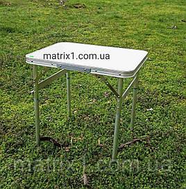 Стол складной алюминиевый, столешница МДФ, 600 х 450 х 250/590 Camping. PALISAD