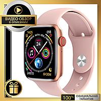 Умные смарт часы, Smart Watch C500, Sim card, голосовой вызов, pink, IP67