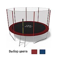 Батут FitToSky 404см з зовнішньою захисною сіткою для дітей і дорослих Червоний