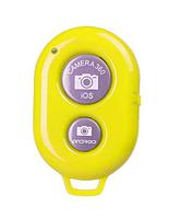 Універсальний Bluetooth пульт кнопка для селфи I Shutter Жовтий