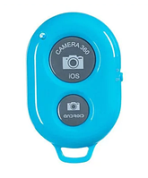 Універсальний Bluetooth пульт кнопка для селфи I Shutter Блакитний