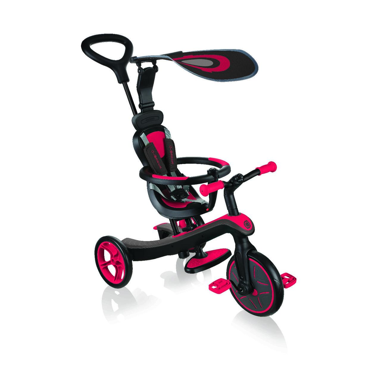 Велосипед дитячий GLOBBER серії EXPLORER TRIKE 4в1, червоний, до 20кг, 3 колеса