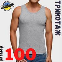 Майка чоловіча, розмір 100, сіра, кулір, 30030570