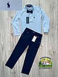 Рубашка для мальчика Polo голубая, фото 5