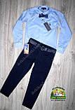 Рубашка для мальчика Polo голубая, фото 4
