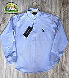 Рубашка для мальчика Polo голубая, фото 3