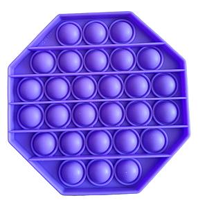 Pop It Игрушка Антистресс, Пупырка, Поп Ит Антистресс, Pop It fidget, Попит, Фиолетовый Восьмиугольник