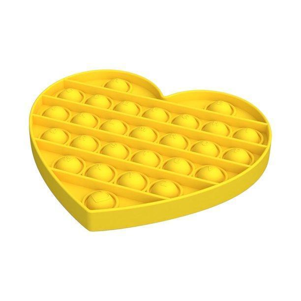 Pop It сенсорная игрушка, пупырка, поп ит антистресс, pop it fidget, попит, желтое сердце