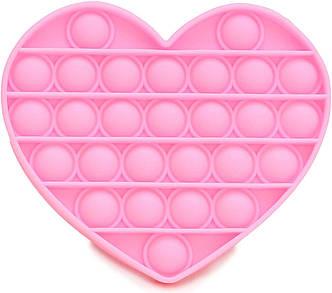 Pop It сенсорна іграшка, пупырка, поп іт антистрес, pop it fidget, попит, рожеве серце