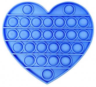 Pop It Сенсорна Іграшка Антистрес, Пупырка, Поп Іт, Pop It Fidget, Попит, Синє Серце