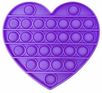 Pop It Сенсорная Игрушка Антистресс, Пупырка, ПопИт Антистресс, Фиолетовое Сердце
