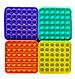 Pop It Игрушка Антистресс, Пупырка, Поп Ит Антистресс, Pop It Fidget, Попит, Желтый Квадрат, фото 3