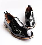 Женские лаковые туфли черные, фото 2