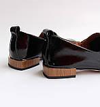 Женские лаковые туфли черные, фото 10