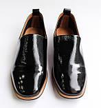 Женские лаковые туфли черные, фото 4