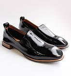Женские лаковые туфли черные, фото 3