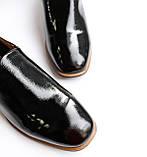 Женские лаковые туфли черные, фото 9