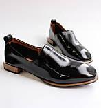 Женские лаковые туфли черные, фото 5