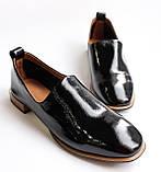 Женские лаковые туфли черные, фото 7