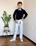 Черная стильная рубашка для мальчиков и подростков, фото 6