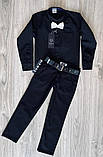 Черная стильная рубашка для мальчиков и подростков, фото 5