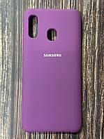"""Чохол Samsung A20 №45 """"Пурпурний"""" Silicon Case"""