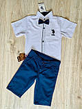 Рубашка белая Polo для мальчика 1-4 лет, фото 4